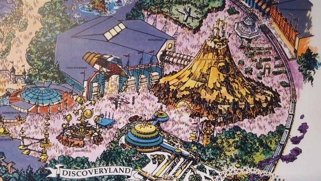 Konzeptzeichnung vom Discoveryland