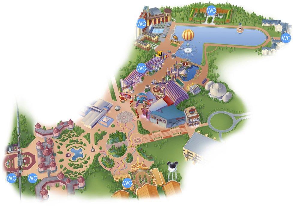 Alle Toiletten im Disney Village