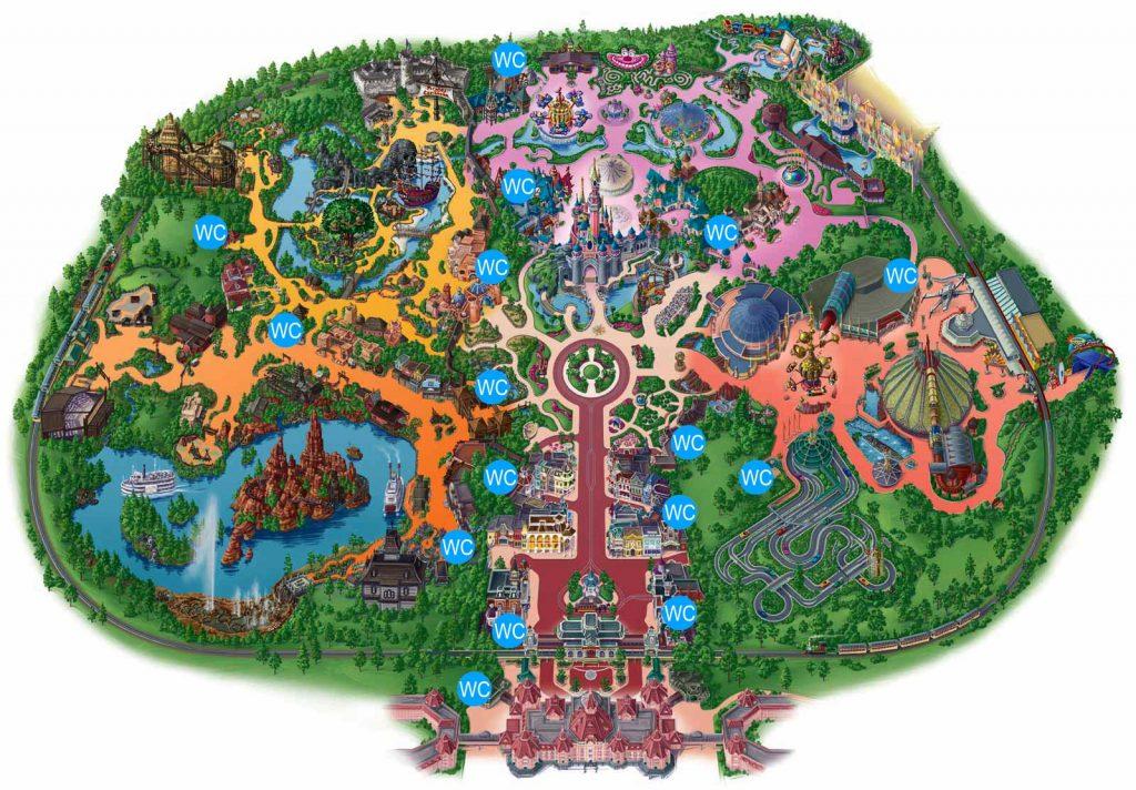 Alle Toiletten im Disneyland Park