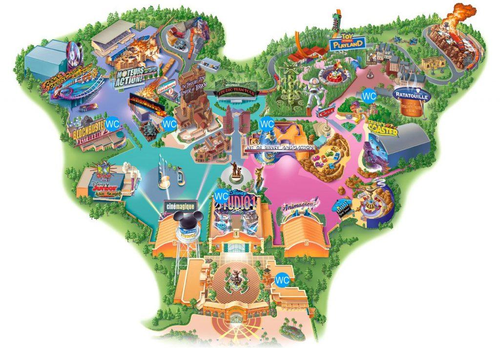 Alle Toiletten im Walt Disney Studios Park